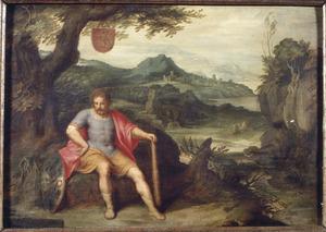 Hercules als de personificatie van Vlaanderen tijdens het 12-jarig bestand (1609-1621)