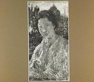 Portret van een dame in het wit