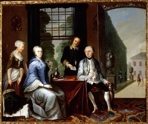 Dubbelportret van Thomas Francois von Cloots (1720-1767) en Aleida Jacoba de Pauw (1728-1797)