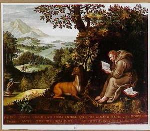 De H. Egidius als kluizenaar in de wildernis