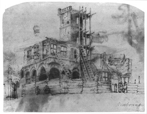 Ruïne van het stadhuis te Amsterdam na de brand van 1652
