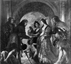 Het huwelijk van aartshertog Maximiliaan van Oostenrijk met Maria van Bourgondië