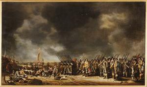 Het vertrek van koningin Henriëtta Maria (1609-1669) naar Engeland vanuit Scheveningen, 29 januari 1643