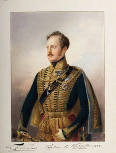 Portret van tsaar Nicolaas I van Rusland (1796-1855)