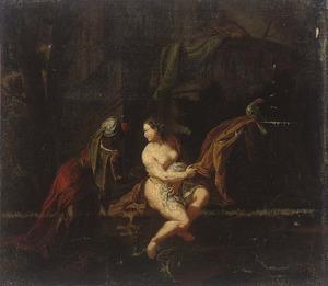 Batseba tijdens haar toilet door David bespied (2 Samuel 11)