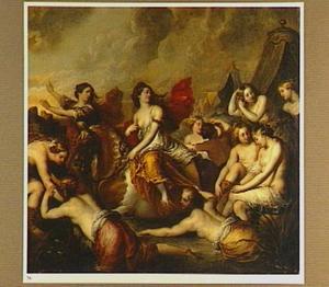 Cloelia en haar gezellinnen vluchten over de Tiber