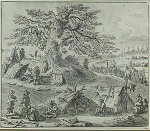Landschap met kampement
