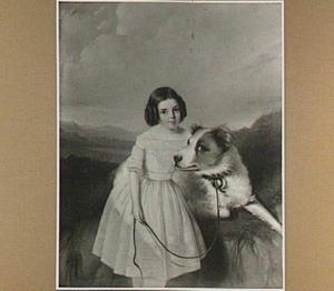 Portret van een onbekend meisje in een duinlandschap