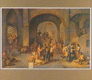 De werken van Barmhartigheid: het bezoeken der gevangenen (Mattheus 25:35)