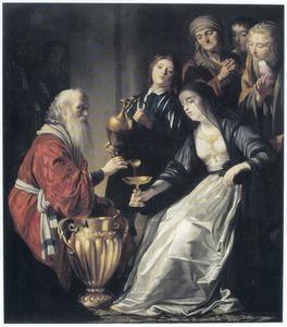Artemisia maakt zich op de as van haar man Mausolos te drinken