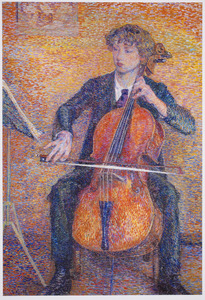 Cello spelende jongeman