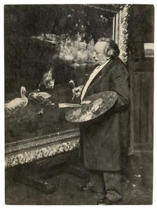 Willem Maris in zijn atelier
