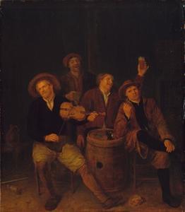 Een herbergscène met schippers