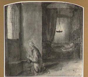 Petrus bidt voor Tabitha (Handelingen 9:40)