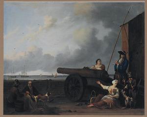 Het bolwerk Blauwhoofd aan het IJ bij Amsterdam