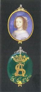 Portret van Anna Sophia van Denemarken (1647-1717)
