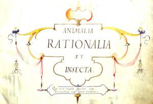 Titelpagina van IGNIS / ANIMALIA / RATIONALIA / ET / INSECTA
