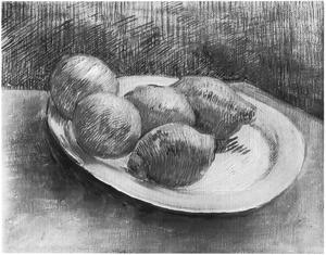 Stilleven: een bord met citroenen