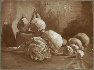 Stilleven met groente en fruit