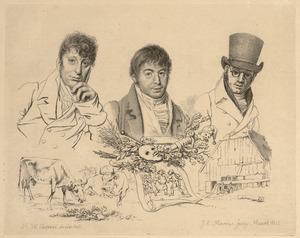 Portret van Hendrik Stokvisch (1768-1820), Jacob Smies (1764-1833) en Daniël Kerkhoff (1766-1821)