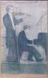 Dubbelportret van Han van der Ven (....-....) en Albert Dankmeyer (....-....)