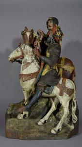 Twee Romeinse soldaten te paard van een Calvarie, naar links gewend