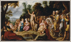 Johannes de Doper predikend in de wildernis