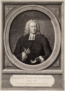 Portret van Adrianus Joannes Elzevier (1702-1756)