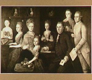 Portret van de familie Schimmelpenninck in een interieur