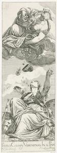 Juno schenkt de kroon van de doge en andere schatten aan Venetië