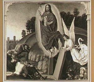 De opstanding van Christus (detail van het rechterluik)