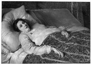 Portret van een 25-jarige, pas overleden vrouw