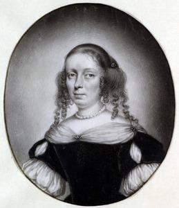 Portret van een vrouw, waarschijnlijk Sara van Musschenbroek (1647-1710)