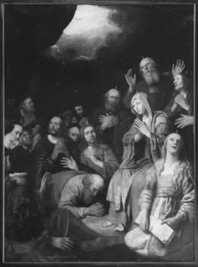 De Nederdaling van de H. Geest met toegevoegde portretten (Handelingen 2)