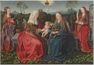 Anna te Drieën met de heilige Catharina en Barbara