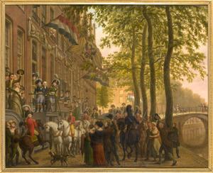 Het bezoek van tsaar Alexander I aan de collectie Brentano te Amsterdam, 4 juli 1814