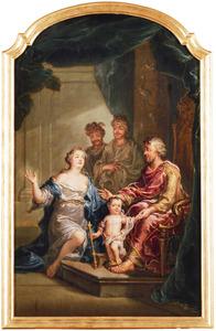 Mozes vertrapt de kroon van Farao (Flavius Josephus, Antiquitates Judaicae, II caput 5)