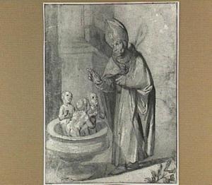 De Heilige Nicolaas brengt de drie kinderen weer tot leven