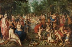 Godenmaaltijd op de Olympus