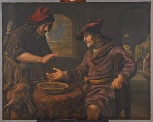 Esau verkoopt Jacob zijn eerstgeboorterecht (Genesis 25:29-34)