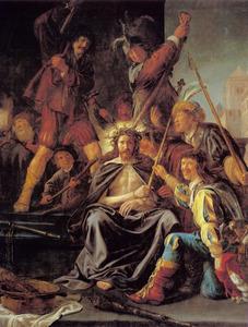 De doornenkroning  en bespotting van Christus