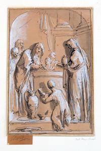 Vestaalse maagden bij een offeraltaar