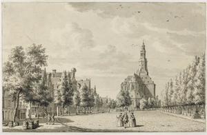 De Vismarkt te Groningen met de Der Aa-kerk