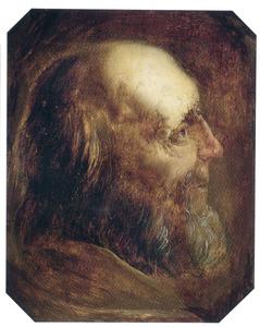 Tronie van een oude man en profil