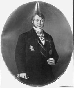 Portret van J.C. Rijk, minister van Marine