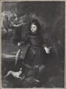 Portret van kind, mogelijkTobio Pallavicino (?-?) als Tobias met de engel