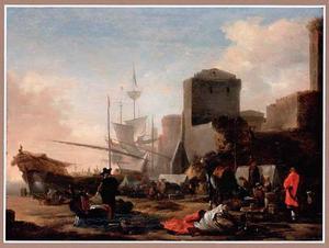 Capriccio van een mediterrane haven