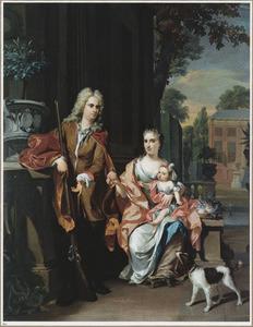 Portret van Johan Diederik Pompe van Meerdervoort (1697-1749), Johanna Alida Pompe van Meerdervoort (1691-1744) en hun dochter Maria Christina Pompe van Meerdervoort (1723-1781)