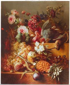 Bloem- en vruchtenstilleven