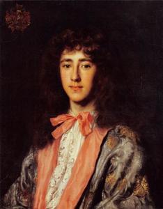 Portret van een jonge man met een roze strikdas